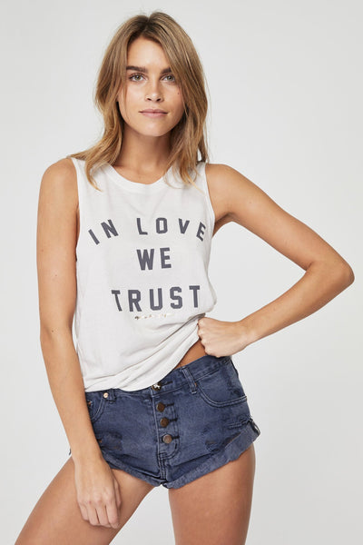 IN LOVE WE TRUST MUSCLE TANK - Spiritual Gangster