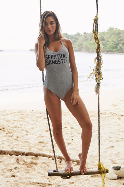 SG RETREAT ONE PIECE SWIMSUIT HEATHER GREY - Spiritual Gangster