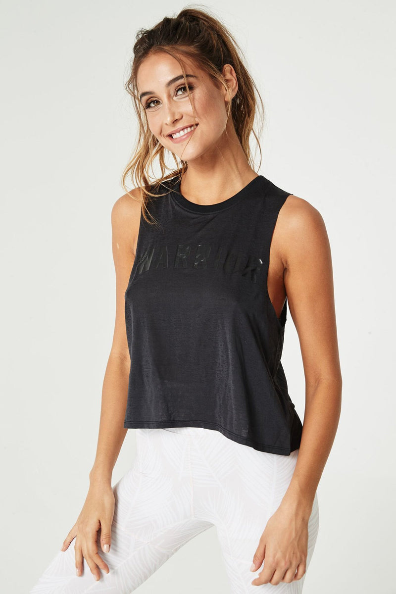 Warrior Active Crop Tank Black