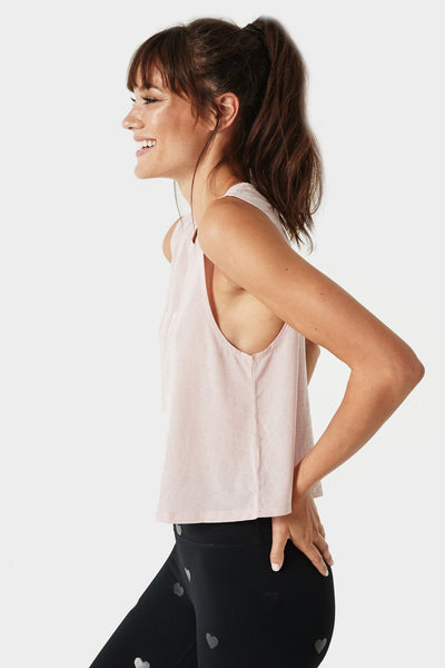 WARRIOR ACTIVE CROP TANK SHELL PINK - Spiritual Gangster