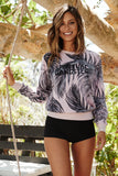 IN THE SHADE PULLOVER PALM PRINT - Spiritual Gangster