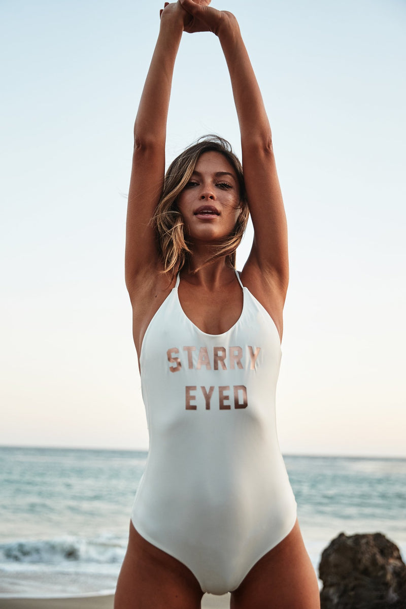 STARRY EYED RETREAT ONE PIECE SWIMSUIT