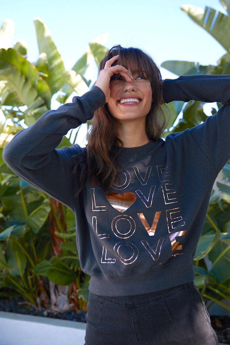 LOVE MALIBU HACCI CREW NECK