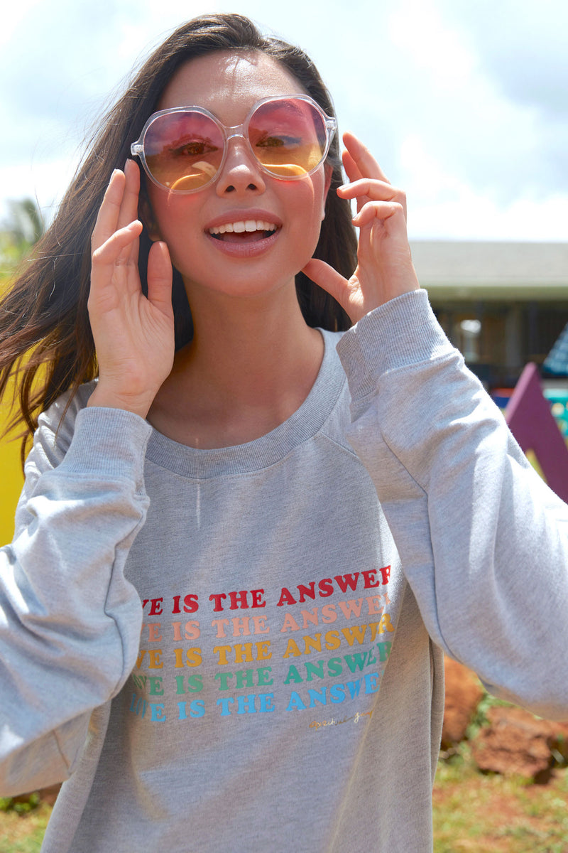 Love Is the Answer Oversized Sweatshirt