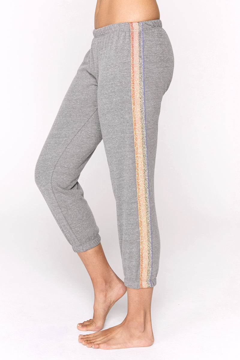 SHIMMER STRIPE PERFECT SWEATPANT