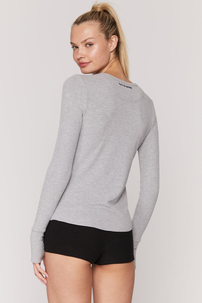 Trust the Universe Ballet Rib Long Sleeve Top