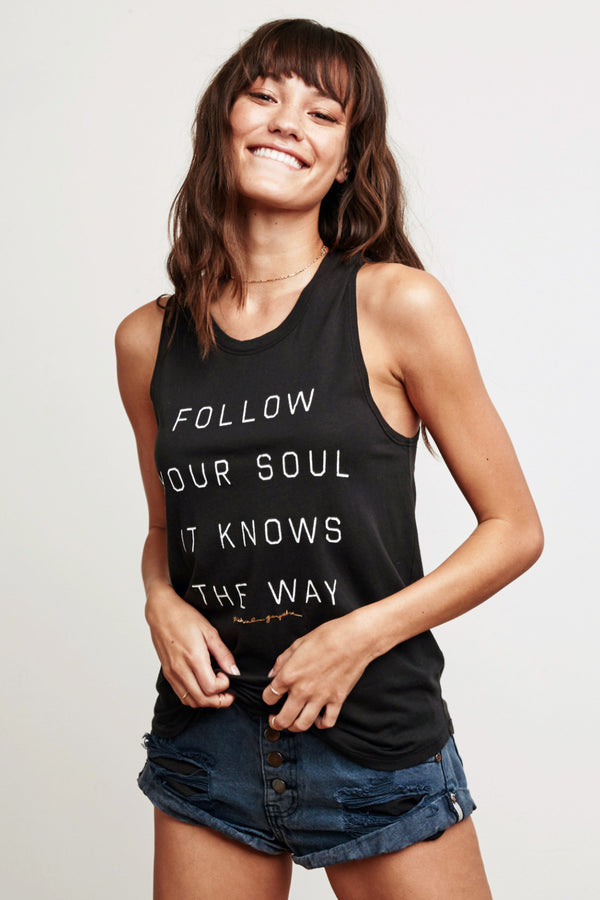 FOLLOW YOUR SOUL MUSCLE TANK - Spiritual Gangster