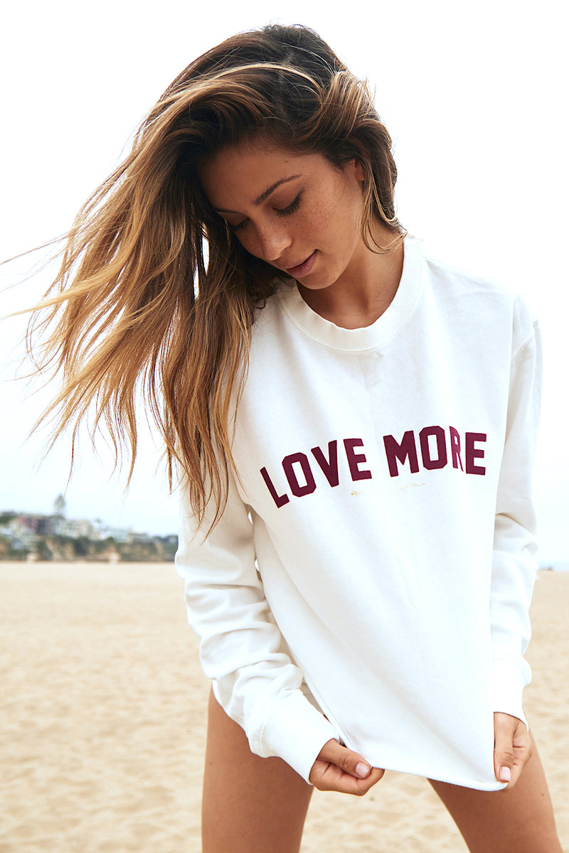Love More Mazzy Crop Sweatshirt