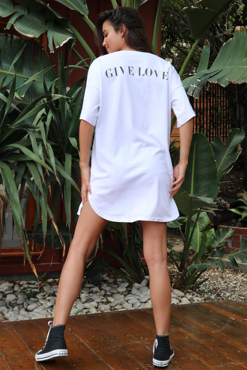 GIVE LOVE TEE DRESS