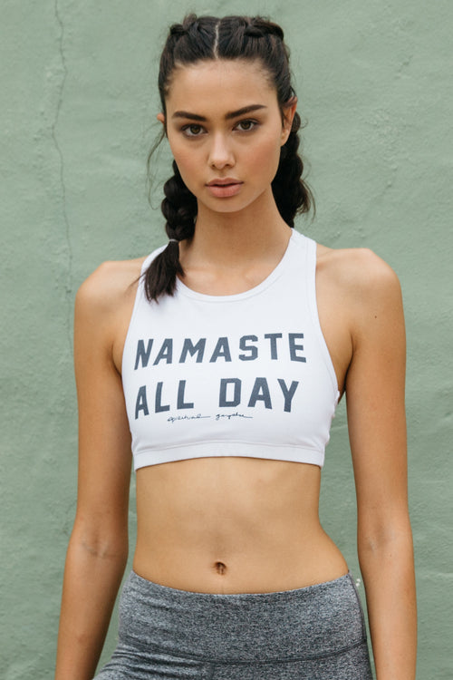 Namaste All Day High Neck Bra - Spiritual Gangster