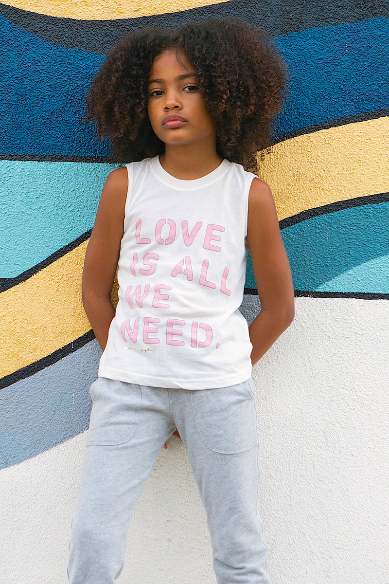 Love Is All We Need Kids Tank