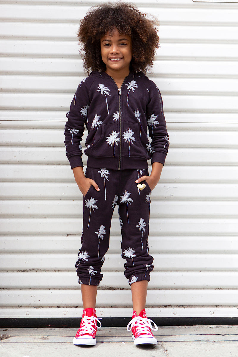 PALM PRINT KIDS SWEATPANT