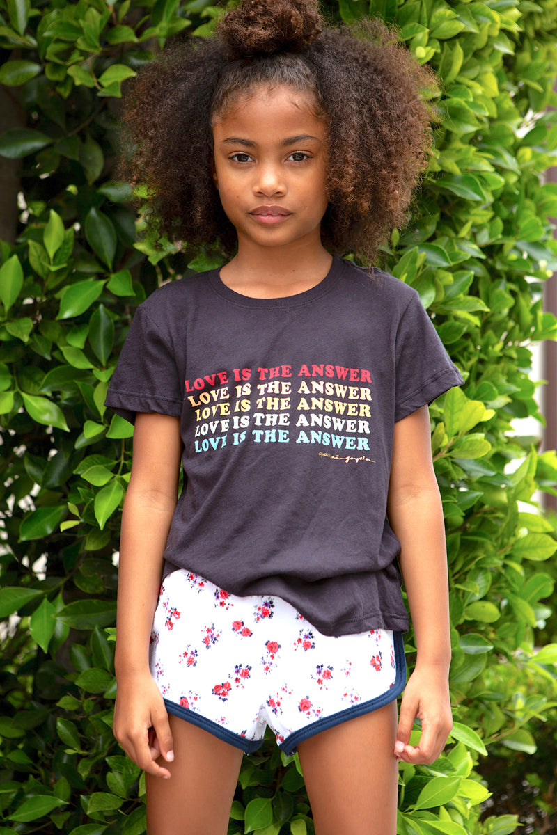 LOVE IS THE ANSWER KIDS TEE
