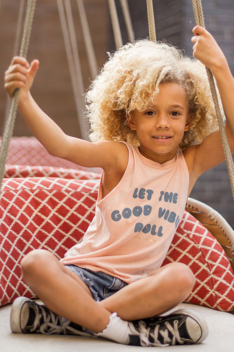 Good Vibes Roll Kids Muscle Tank