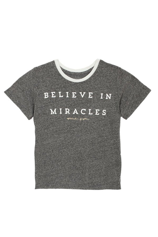 BELIEVE IN MIRACLES KIDS TEE (8-14) - Spiritual Gangster