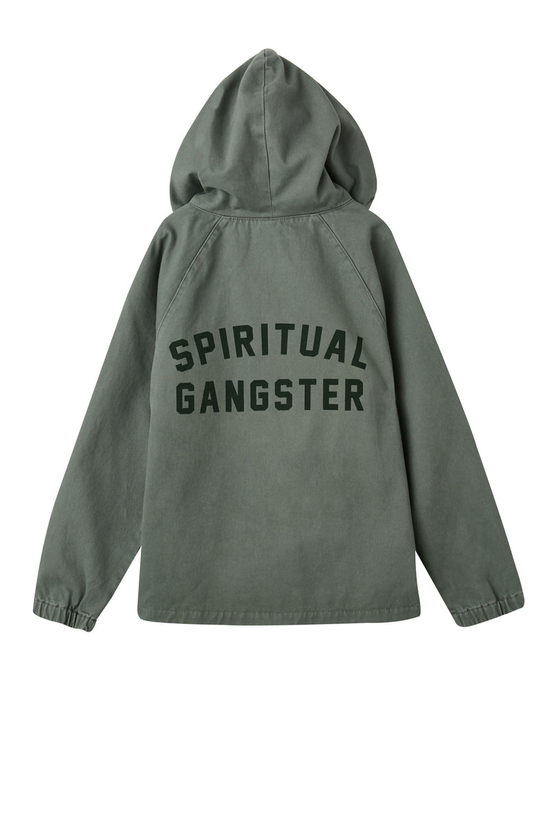 SPIRITUAL GANGSTER HOODED MILITARY JACKET