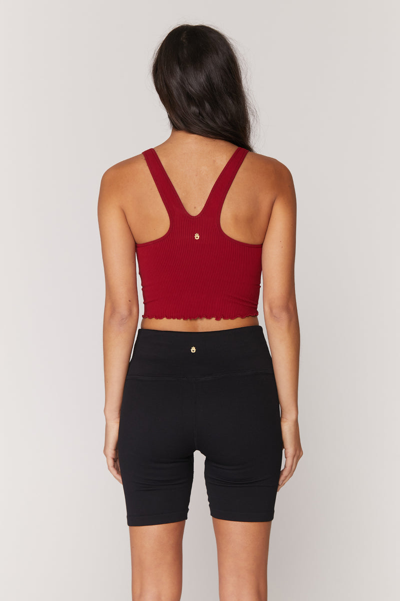 Amor Crop Tank Deep Red
