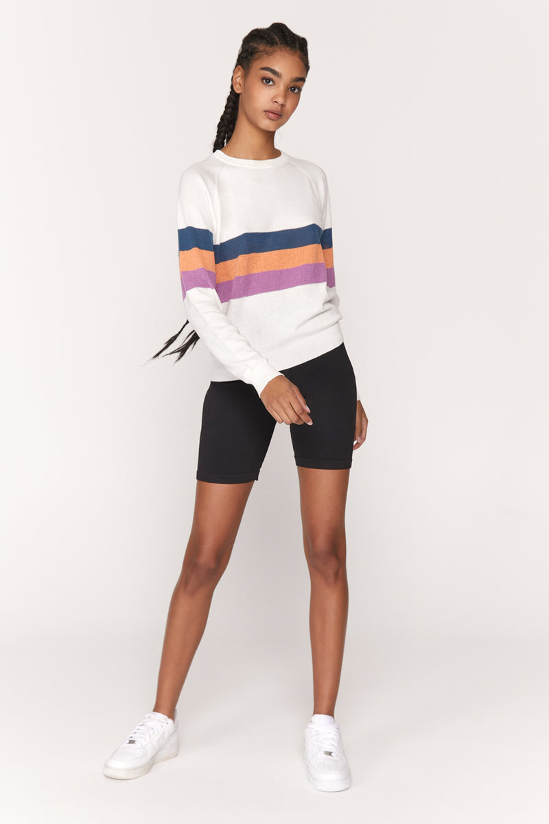 On the Go Striped Sweater