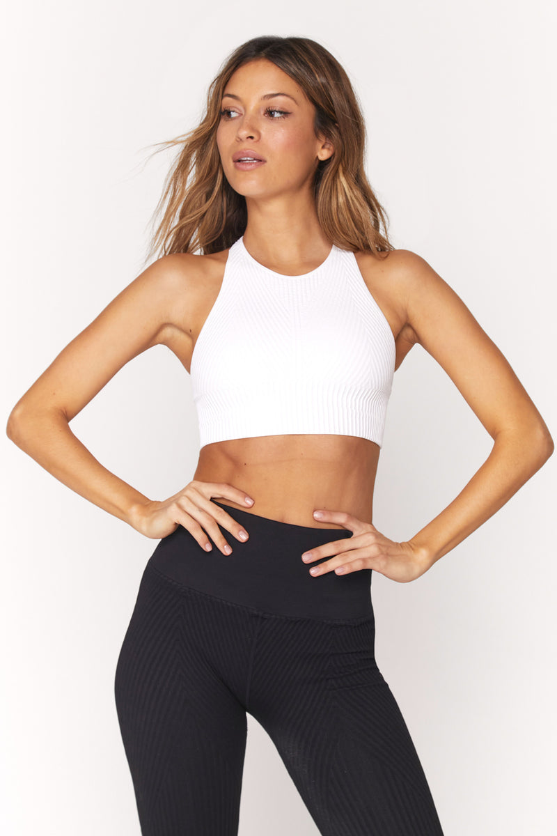 Row High Neck Bra