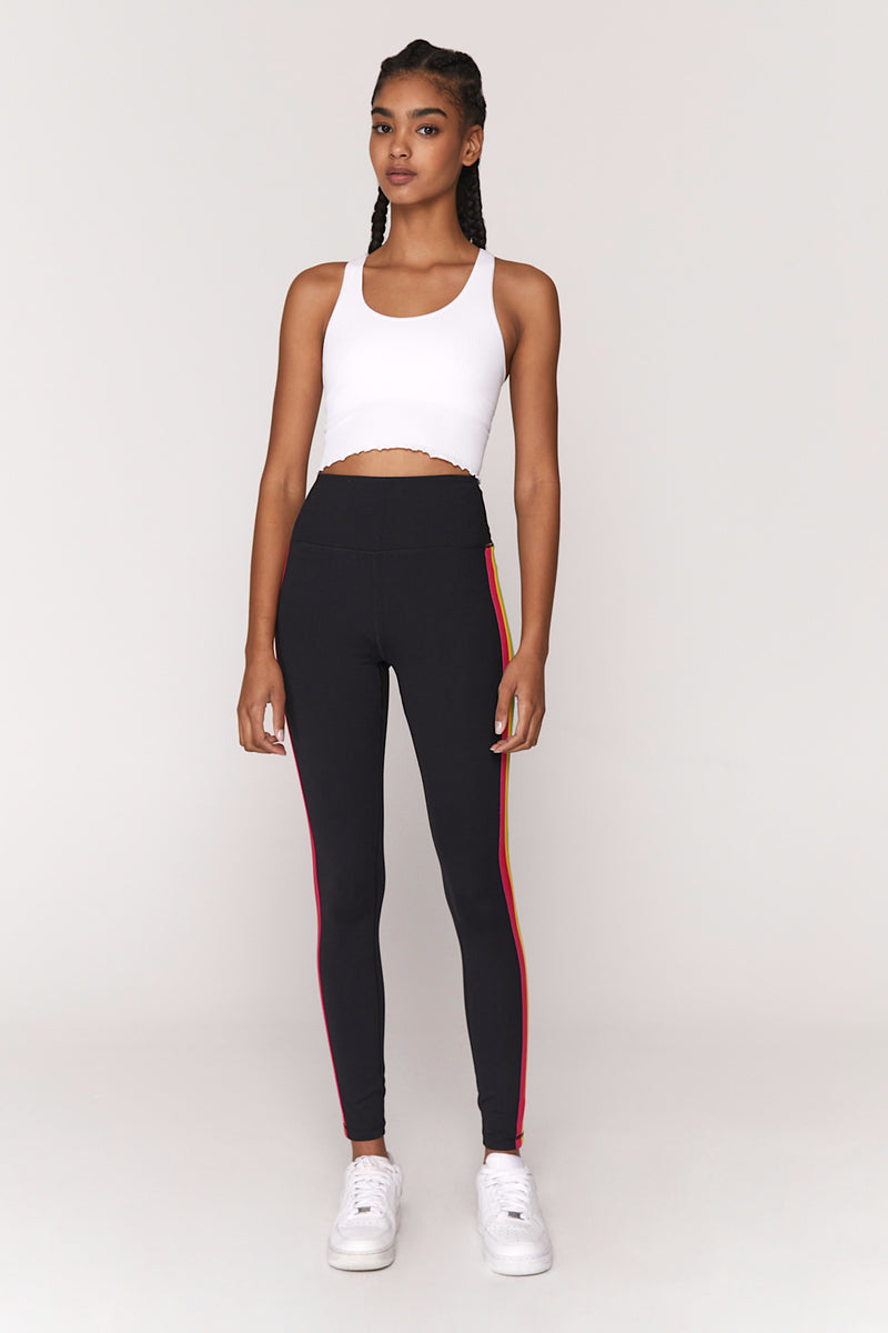 Essential High Waist Striped Legging