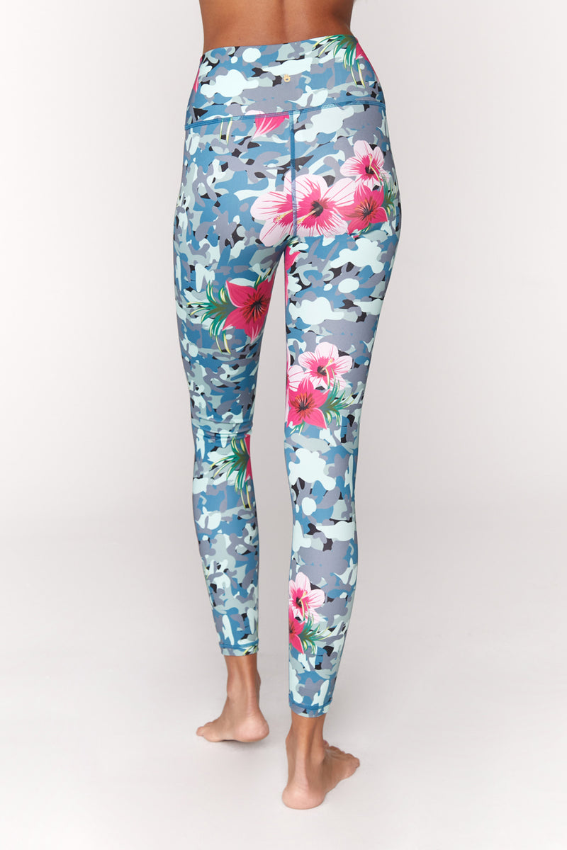 Tropical Camo High Waist Legging