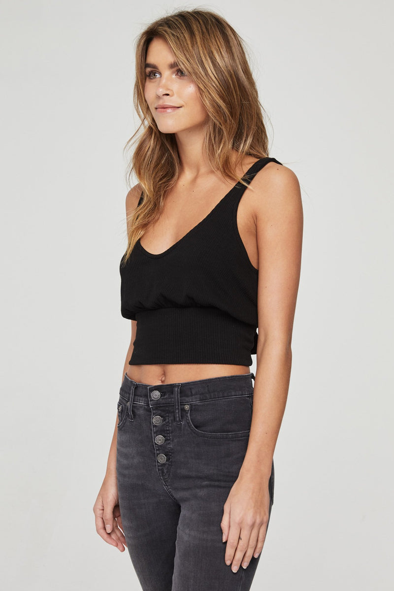 BAND CROP TANK BLACK
