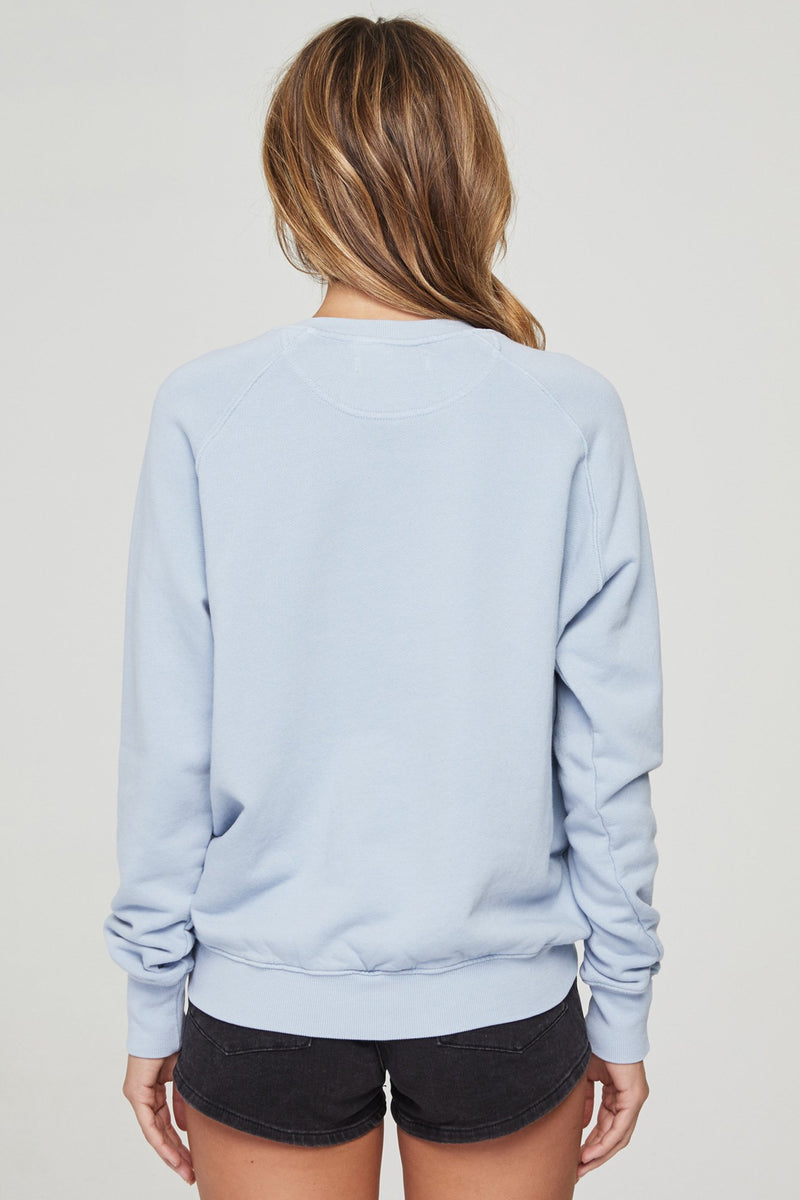 BREATHE CLASSIC CREW SWEATSHIRT FADED BLUE