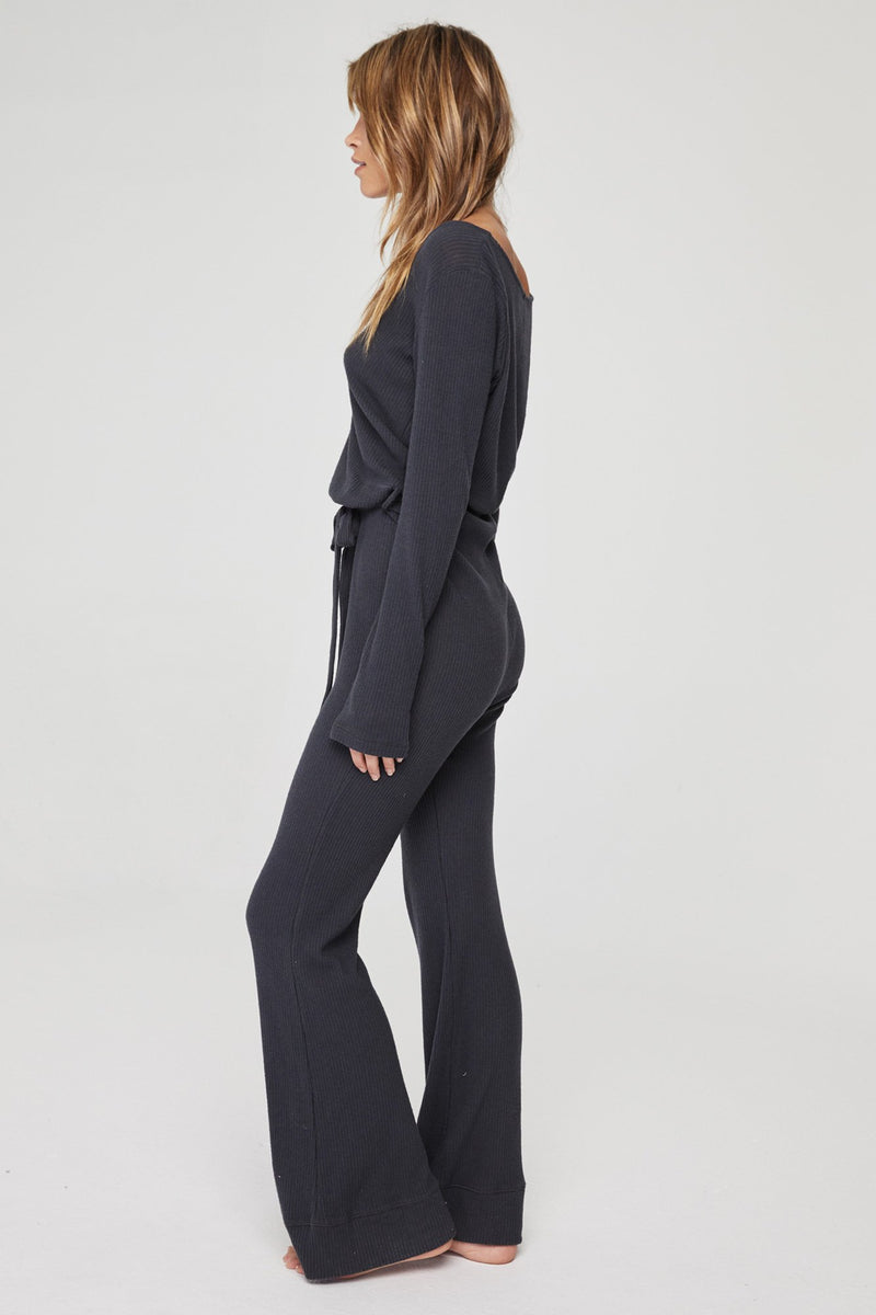 LONG SLEEVE KNIT JUMPSUIT VINTAGE BLACK