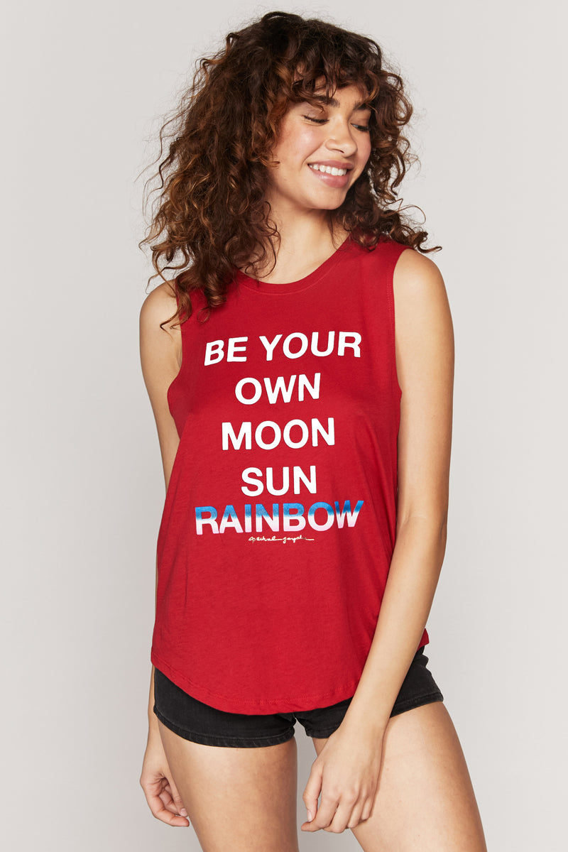 Be Your Own Rainbow Muscle Tank