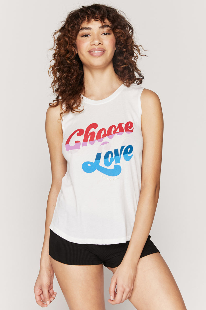 CHOOSE LOVE MUSCLE TANK