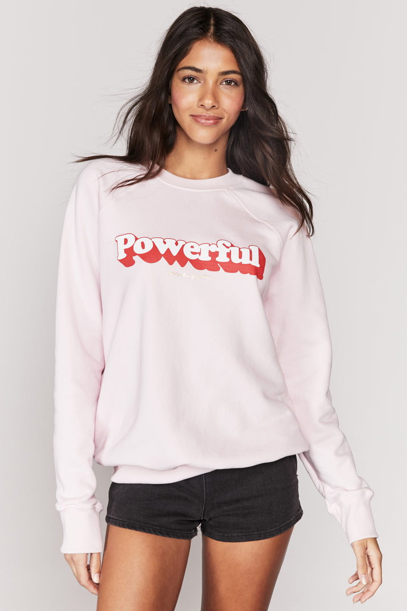 POWERFUL CLASSIC CREW SWEATSHIRT