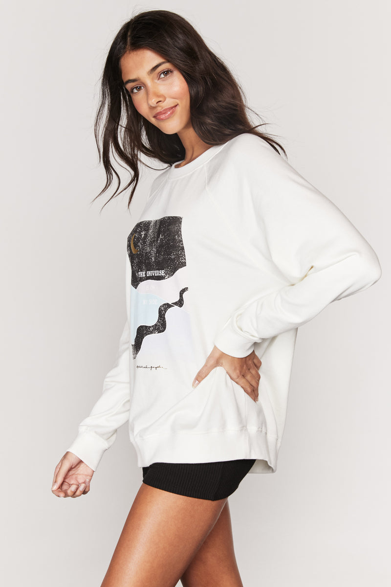 Universe On My Side Oversized Sweatshirt