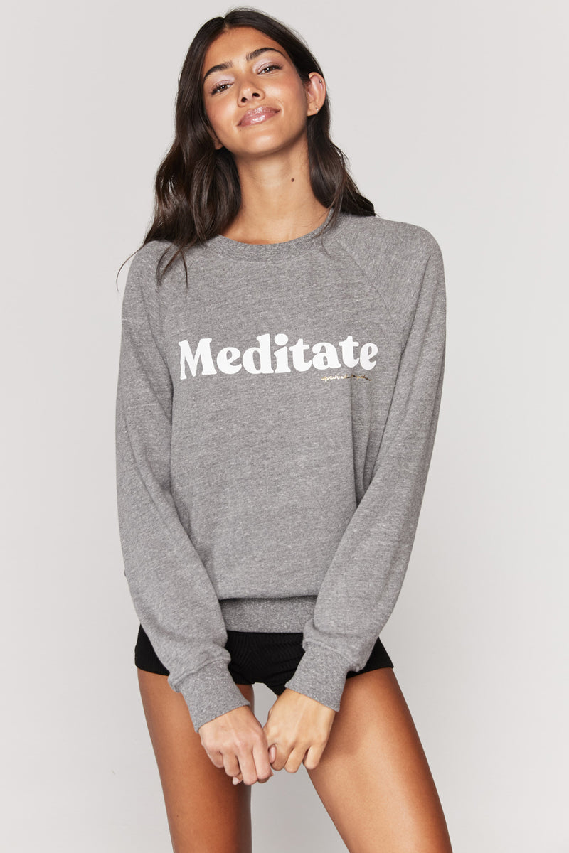 MEDITATE OLD SCHOOL PULLOVER