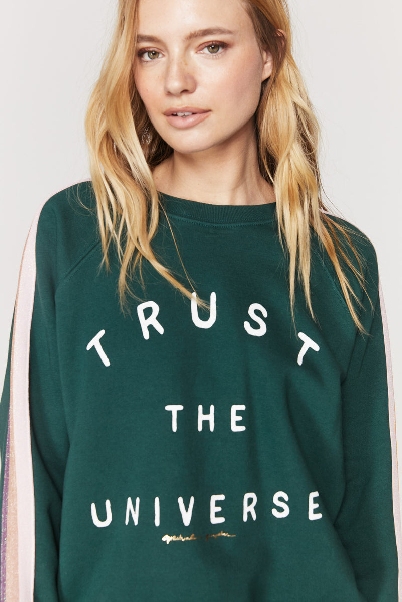 Trust the Universe Striped Classic Sweatshirt