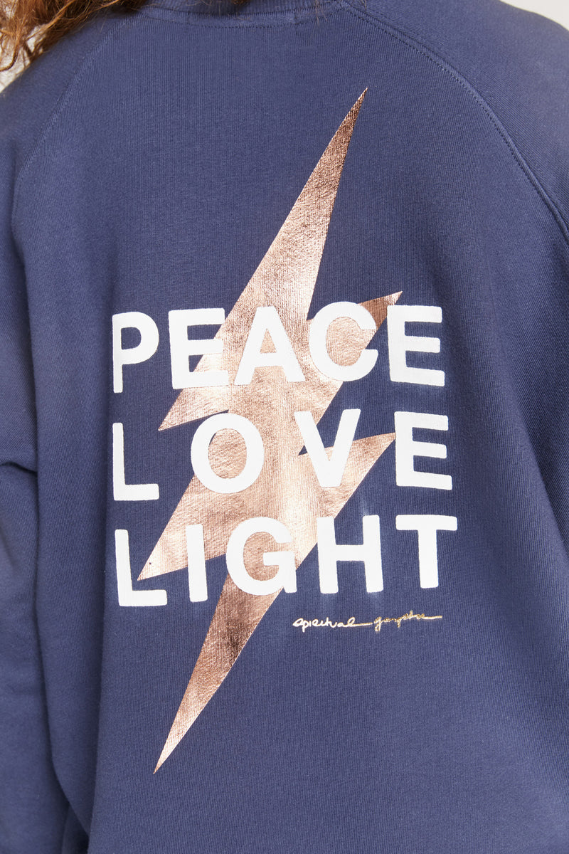 PEACE LOVE LIGHT CLASSIC CREW SWEATSHIRT