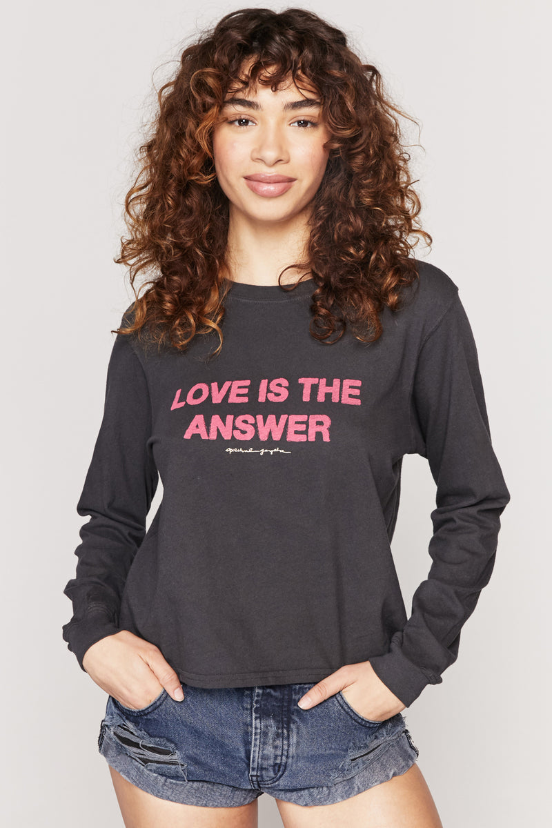 LOVE IS THE ANSWER LONG SLEEVE TEE