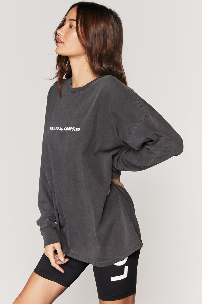 WE ARE ALL CONNECTED OVERSIZED LONG SLEEVE TEE