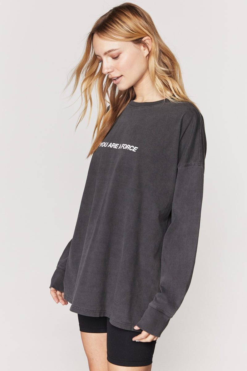 The Moon Oversized Long Sleeve Tee