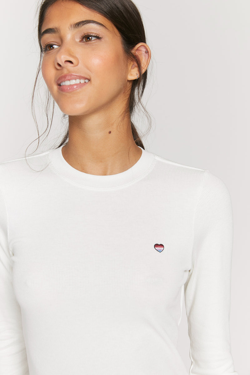 Long Sleeve Rib Tee