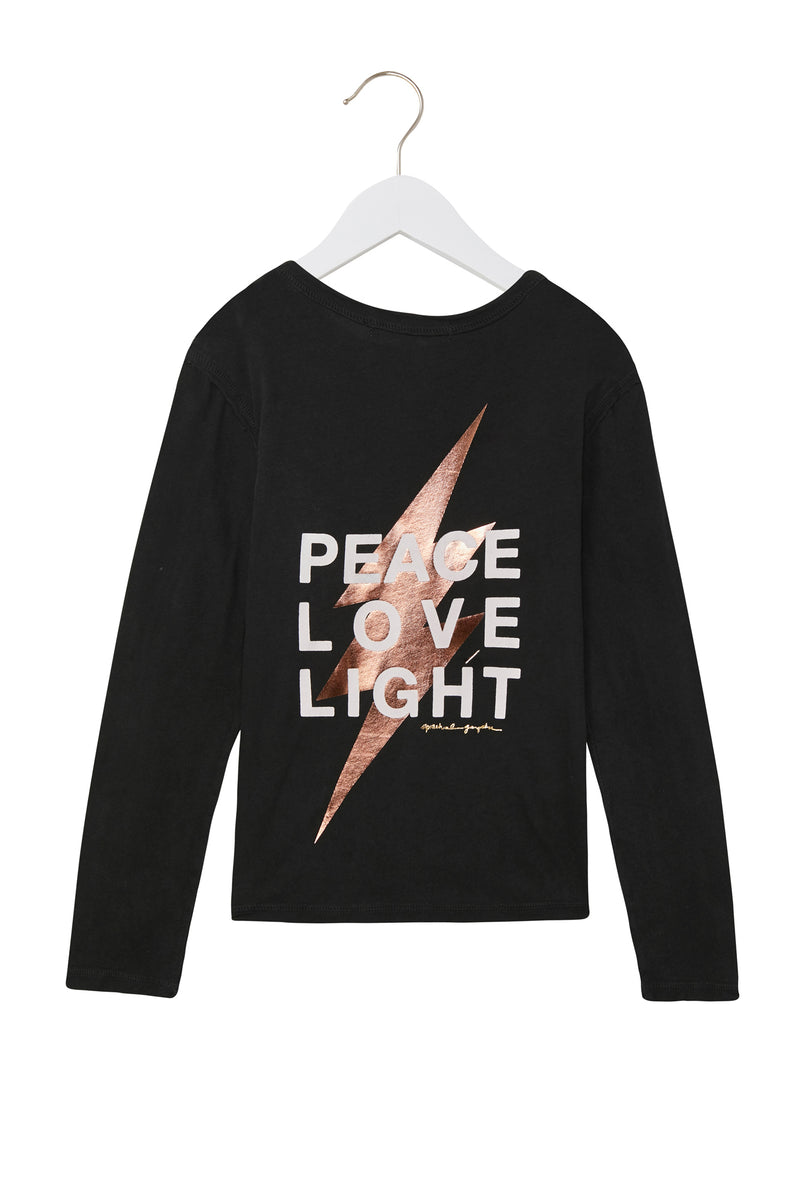 PEACE LOVE LIGHT KIDS LONG SLEEVE TEE