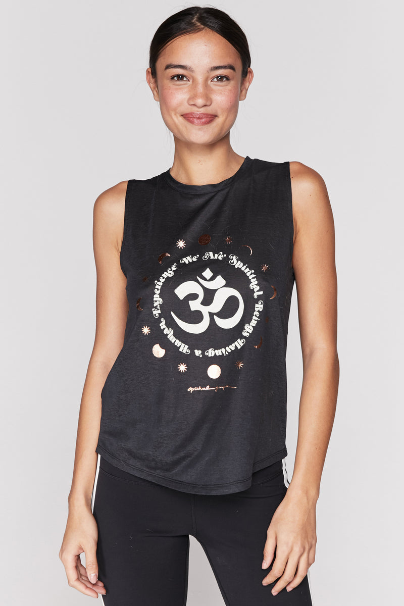 We Are Spiritual Beings Active Muscle Tank