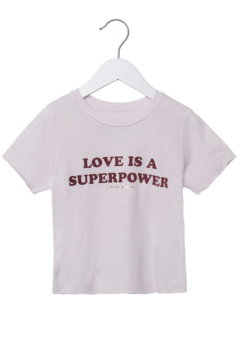 SUPERPOWER KIDS TEE ROSE QUARTZ