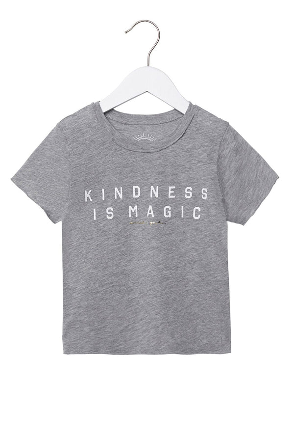 KINDNESS IS MAGIC KIDS TEE HEATHER GREY - Spiritual Gangster