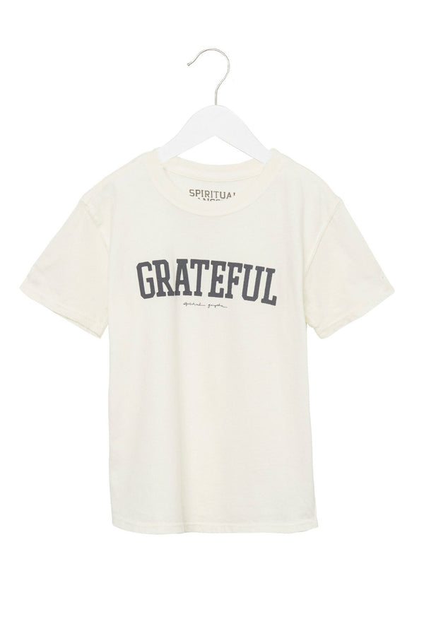 GRATEFUL KIDS TEE WHITE - Spiritual Gangster