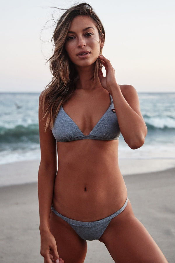 BREEZY BIKINI TOP HEATHER GREY - Spiritual Gangster