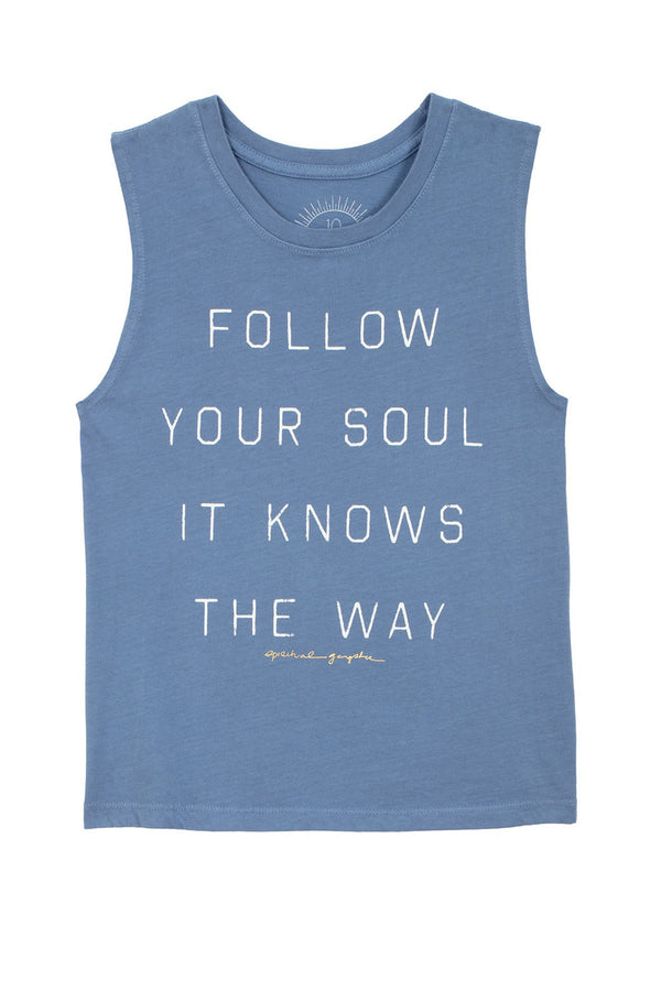 FOLLOW YOUR SOUL KIDS MUSCLE TANK (8-14) - Spiritual Gangster