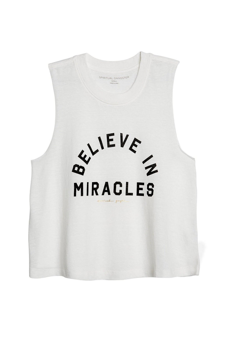 Believe in Miracles Crop Tank