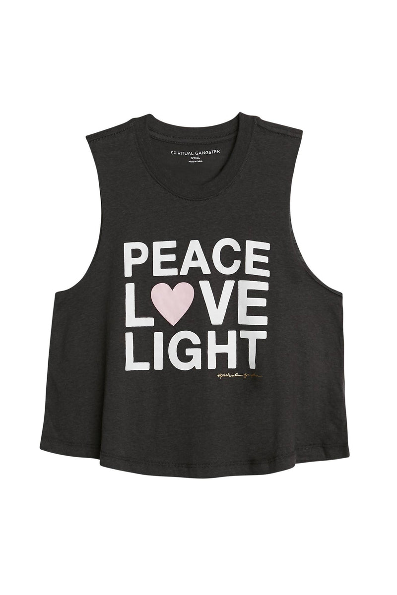 Peace Love Light Crop Tank