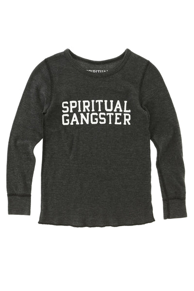 SG Varsity Long Sleeve Kids Thermal (2T - 8) - Spiritual Gangster