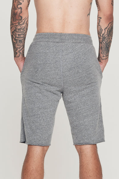 SG VARSITY GYM SHORT HEATHER GREY - Spiritual Gangster